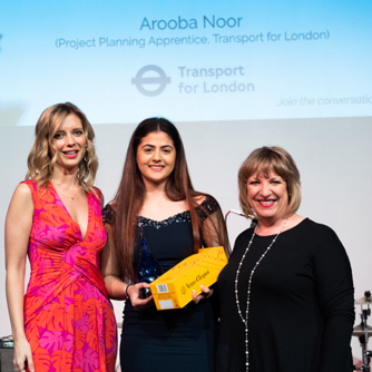 Picture of Arooba Noor%br%(Project Planning Apprentice, Transport for London)